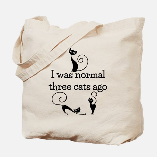 Three Cats Ago Humorous Tote Bag