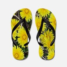Yellow Wild Flowers Flip Flops