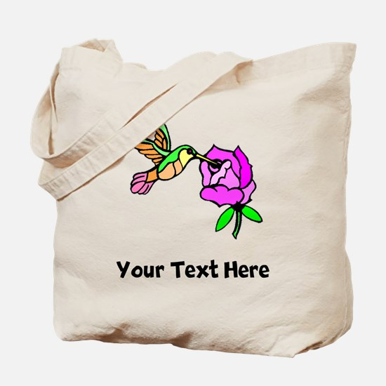 Hummingbird And Flower (Custom) Tote Bag