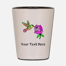 Hummingbird And Flower (Custom) Shot Glass