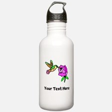 Hummingbird And Flower (Custom) Water Bottle