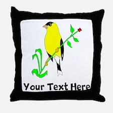 Goldfinch (Custom) Throw Pillow
