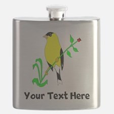 Goldfinch (Custom) Flask