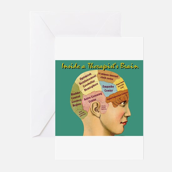 Inside a Therapists Brain Greeting Cards