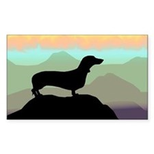 Desert Dawg Doxie Oval Decal
