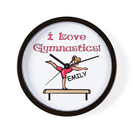 I Love Gymnastics (Emily) Wall Clock