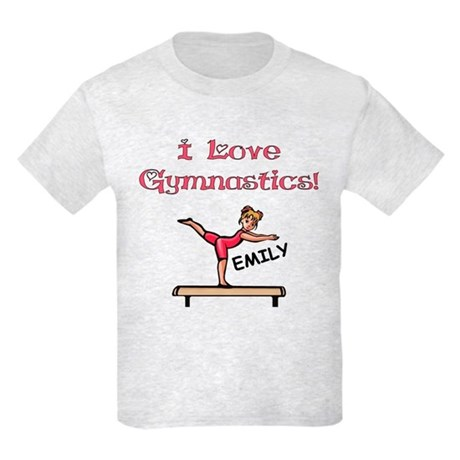I Love Gymnastics (Emily) Kids Light T-Shirt