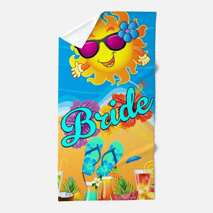 Beach Bride Honeymoon Beach Towel