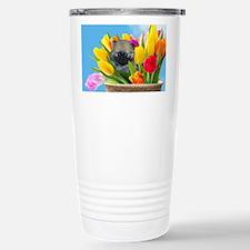 Easter Pomeranian Travel Mug