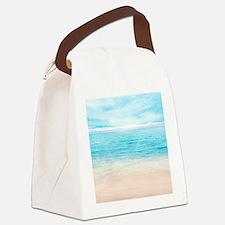 White Sand Beach Canvas Lunch Bag