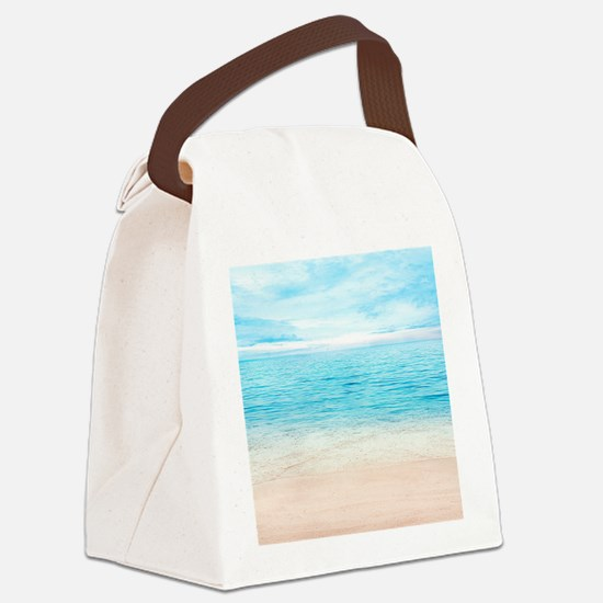 White Sand Beach Canvas Lunch Bag