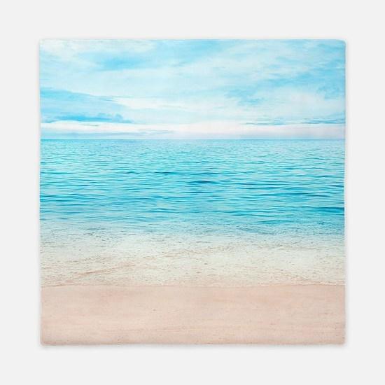 White Sand Beach Queen Duvet