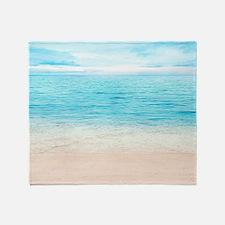 White Sand Beach Throw Blanket