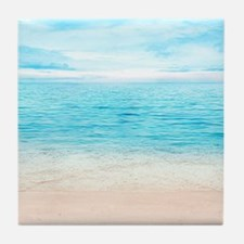 White Sand Beach Tile Coaster