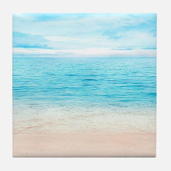 White Sand Beach Tile Coaster