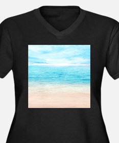 White Sand Beach Plus Size T-Shirt