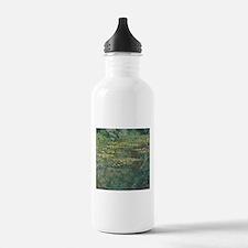 Waterlilies by Claude Water Bottle