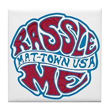 Rassle U Tile Coaster
