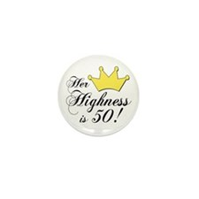 50th birthday gifts women Mini Button (10 pack)