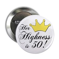 "50th birthday gifts women 2.25"" Button"