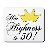 50th birthday women Mouse Pads