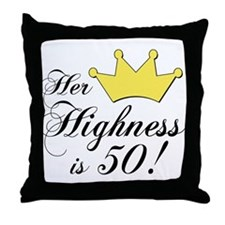 50th birthday gifts women Throw Pillow