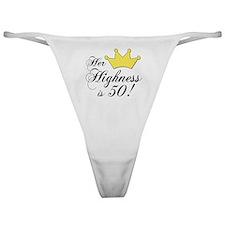50th birthday gifts women Classic Thong