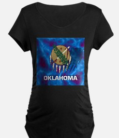 Oklahoma State Flag Maternity T-Shirt