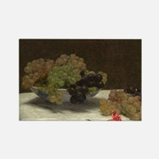 Still Life With Grapes, Fantin Rectangle Magnet
