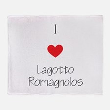 I love Lagotto Romagnolos Throw Blanket