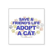 Save life, cat. Oval Sticker