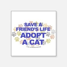 Save life, cat. Oval Sticker