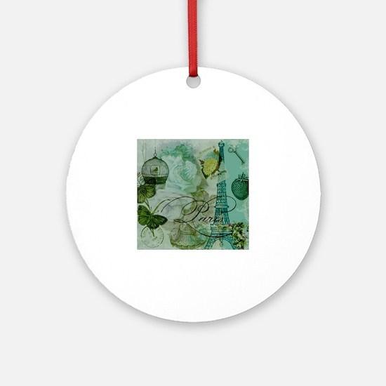 Funny Eifel tower Round Ornament