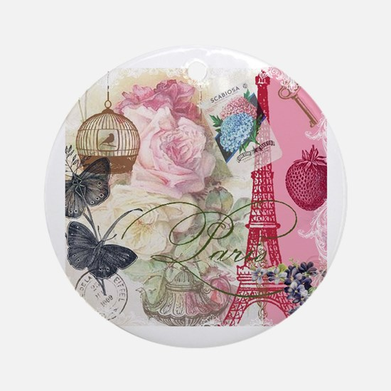 Cool Eifel tower Round Ornament