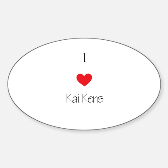 I love Kai Kens Sticker (Oval)