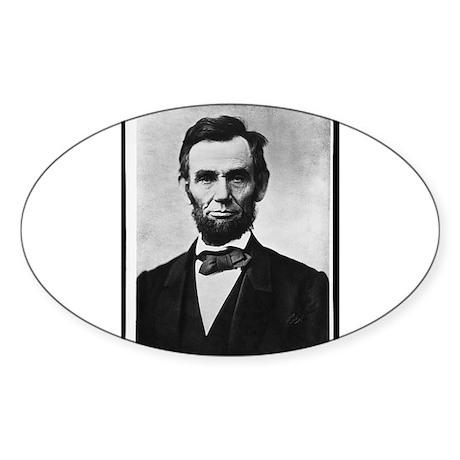 Honest Abe - Abraham Lincoln Oval Sticker