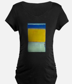 ROTHKO BLUE YELLOW Maternity T-Shirt