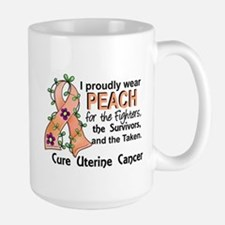 For Fighters Survivors Taken Uterine Ca Large Mug