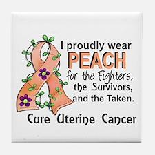 For Fighters Survivors Taken Uterine Tile Coaster