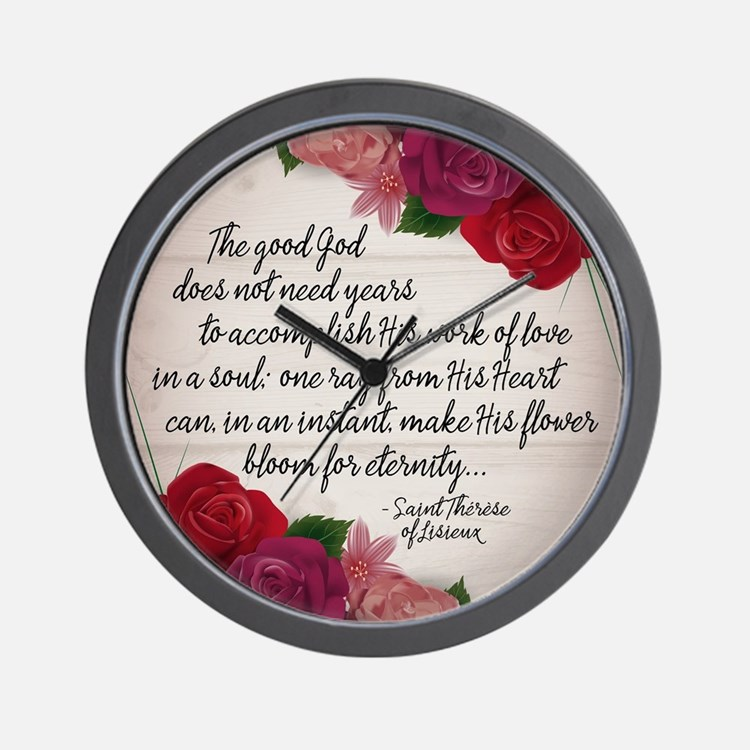 Bloom for Eternity Wall Clock