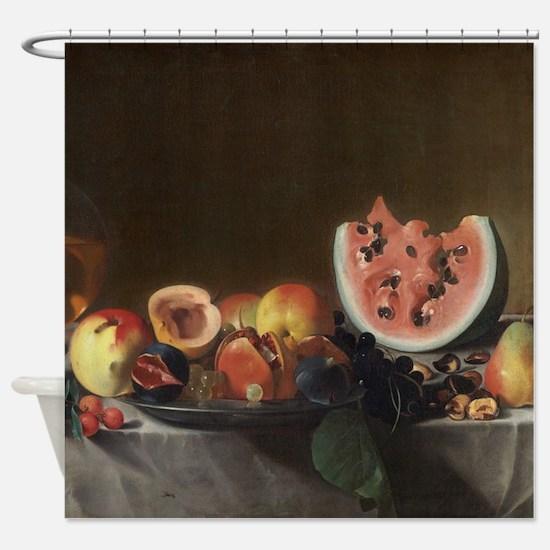 Still Life With Fruit, del Saracini Shower Curtain