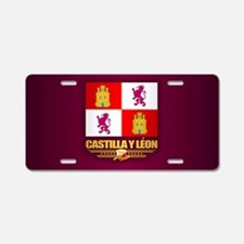 Castilla Y Leon Aluminum License Plate