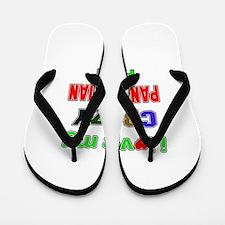 I love my crazy Panamanian family Flip Flops