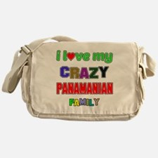 I love my crazy Panamanian family Messenger Bag