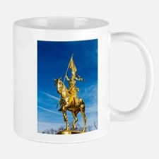 Golden lady on a golden horse back - 600 year Mugs