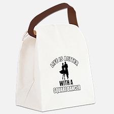 Square Dancer Designs Canvas Lunch Bag