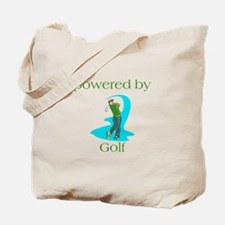 Powered By Golf Tote Bag