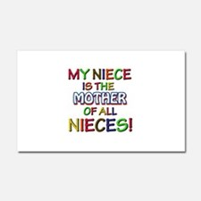 Funny Niece family designs Car Magnet 20 x 12
