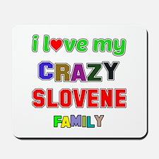 I love my crazy Slovene family Mousepad