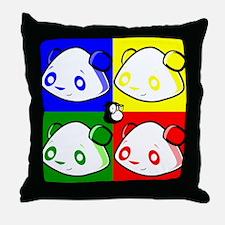Warhole Pandas Throw Pillow